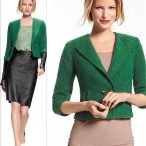 🍃Cabi Ivy Green Tweed Jacket - Size 8 🍃